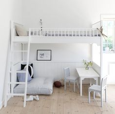 17 Marvelous Space-Saving Loft Bed Designs Which Are Ideal For Small Homes. 17 Marvelous Space Saving Loft Bed Designs Which Are Ideal For Small Homes. Dream Rooms, Dream Bedroom, Girls Bedroom, Bedroom Loft, Mezzanine Bedroom, Attic Bedrooms, Bedroom Small, Loft Beds For Small Rooms, Mezzanine Floor