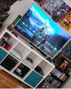 Likes, 26 Comments - Big Kid Games Nerd Room, Gamer Room, Small Game Rooms, Game Room Kids, Gaming Room Setup, Gaming Rooms, Deco Cool, Otaku Room, Welcome To My House