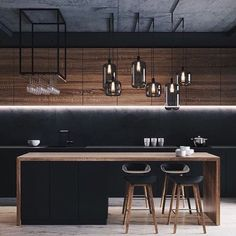 18 Awesome Luxury Dream Kitchen Design Ideas nice If you have lots of kitchen design ideas in mind, there is probably one common thing about them - simplicity. Many people are enticed into bringing th. Kitchen Room Design, Modern Kitchen Design, Home Decor Kitchen, Interior Design Kitchen, Kitchen Living, Living Room, Küchen Design, House Design, Loft Design
