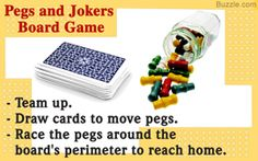 Rules for playing 'pegs and jokers' board game