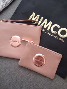 would love a mimco pouch Mimco Pouch, Purse Wallet, Rose Gold Aesthetic, Jewelry Accessories, Fashion Accessories, Gold Everything, Love Rose, Brand It, Dusty Pink