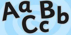 Black Size Editable Alphabet Display Lettering-alphabet, display lettering, black lettering, size editable, size editable lettering, lettering for display
