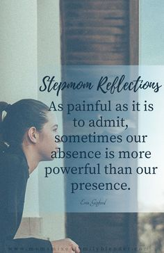 It makes me sad because so often stepmoms don't realize that they hold way more power in the bio mom relationship than they think. Ex Wife Quotes, Hubby Quotes, Girl Quotes, Dealing With Ex Wife, Mixed Families, Dont Lose Hope, Advice For New Moms, Step Parenting, Step Kids