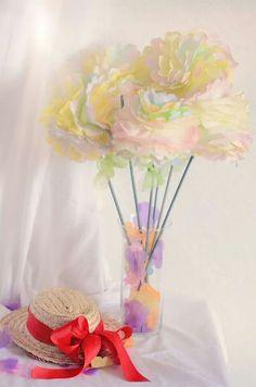 Spring. coffee filter flowers.