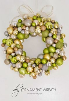 It's a rare occasion that you can hang shiny, colorful orbs all around your house just for fun. Lean way into the Christmas tradition with this truly impressive wreath.