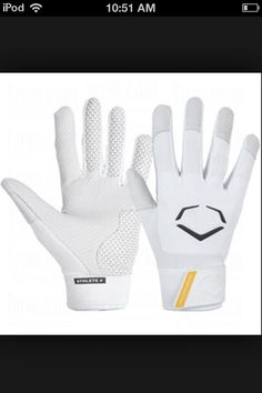 White Evoshield Batting Gloves