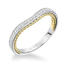 SEANA ArtCarved Diamond Wedding Band