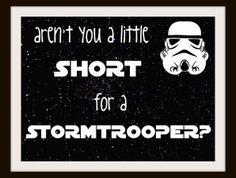Star Wars Stormtrooper Typography Nursery Art | Geek-a-bye Baby