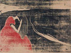 Edvard Munch (Norwegian, 1863-1944). Melancholy II. 1898. Woodcut.