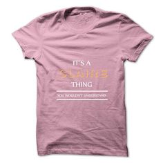 Its An CLAIRE Thing. You Wouldns Understand.New T-shirt - #pocket tee #tshirt diy. LIMITED TIME PRICE => https://www.sunfrog.com/No-Category/Its-An-CLAIRE-Thing-You-Wouldns-UnderstandNew-T-shirt.html?68278