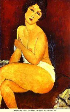 Amedeo Modigliani. Seated Nude on Divan.