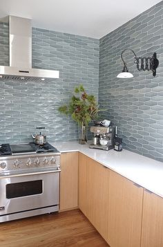 Contemporary Kitchen by Shelby Wood Design - tile: Heath Ceramics