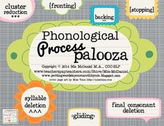 Phonological Process Palooza! {fun therapy activities for 7 common processes}