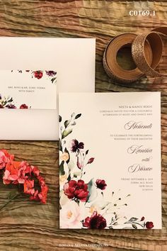 Floral bouquet inspired wedding invitation with a vellum paper envelope & matching address labels. For more design ideas, visit www.rohanaparna.com ——————————————— #rohanaparnainvitations #weddinginvitations #weddingcards #indianweddingcard #reception #weddingcard #shaadi #shaadicard#hinduweddingcard #mehendi #indianwedding #ecard #destinationwedding #weddingcards #royalwedding #floralwedding #vellumpaper #butterpaperenvelope Luxury Wedding Invitations, Rustic Invitations, Invitation Cards, Invite, Engagement Signs, Red Rose Wedding, Indian Wedding Cards, Floral Bouquets, Destination Wedding