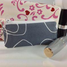 Fabric Lipstick Case Small Zippered Pouch by PhenomenalWomenShop