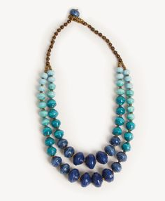 Jalia Ombre Necklace, Blue - Noonday Collection
