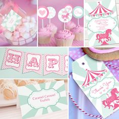 Carousel Party Theme Instantly Downloadable por SunshineParties