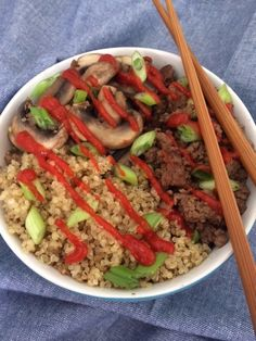 Asian Beef and Mushroom Bowl (dairy-free, gluten-free)