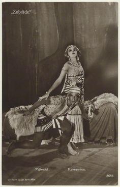 Vaslav Nijinsky and  Seraphims Astafieva in 'Cleopatre'.  Ballets Russes