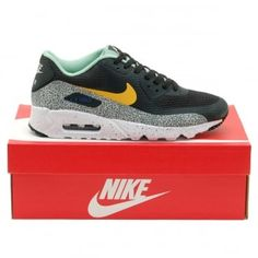 Nike Air Max 90 Safari Ultra Essential Black Resin Enamel Green White - Mens Shoes from Attic Clothing UK