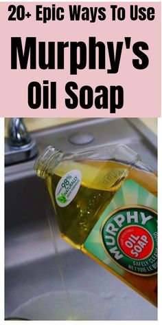household hacks Murphy's Oil Soap tips and tricks Diy Home Cleaning, Homemade Cleaning Products, Household Cleaning Tips, Cleaning Recipes, Green Cleaning, House Cleaning Tips, Natural Cleaning Products, Spring Cleaning, Cleaning Hacks