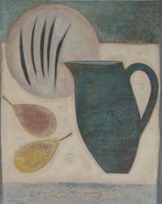 Still Life with Jug, Pears and Beans, (2012) by Vivienne Williams