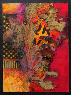 "CAROL NELSON FINE ART BLOG: Mixed Media Abstract Collage Painting, ""Summer in…"