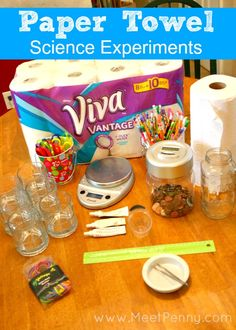 Really cool ideas for paper towel science experiments. Great science project! #Physics #Chemistry #Biology #Engineering #Science #Physicalscience #Teaching #Resources #Lessons #Math #Free #STEM #STEAM #Activities