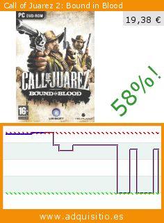 Call of Juarez 2: Bound in Blood (Juego de ordenador). Baja 58%! Precio actual 19,38 €, el precio anterior fue de 46,04 €. http://www.adquisitio.es/ubi-soft/call-of-juarez-2-bound-in