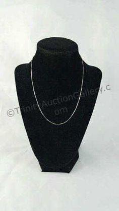 14k White Gold Ladies Box Chain Necklace