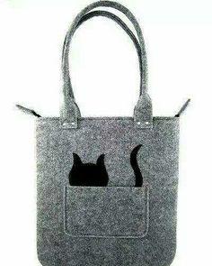 Cat handbag Felt purse Bag for women Gray bag Felt bag Bag Quilt, Felt Purse, Felt Bags, Cat Bag, Denim Bag, Fabric Bags, Quilted Bag, Handmade Bags, Bag Making