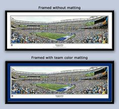 NY Giants MetLife Stadium panoramic framed poster at the Meadowlands
