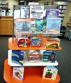 Library Displays, Great Books, Display Ideas, Train, Cool Stuff, Strollers, Big Books, Good Books