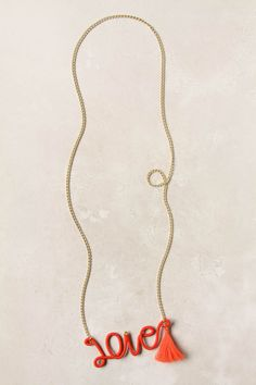 thread wrapped sentiment necklace, anthro $48