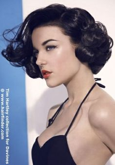 Fine Pin Curls Retro And Curls On Pinterest Hairstyles For Men Maxibearus