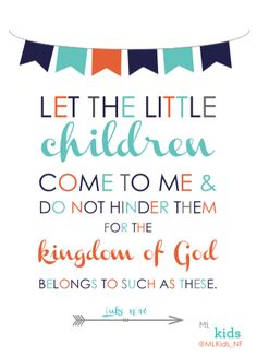 Image result for let the little children come to me verse