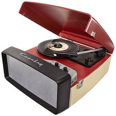 Buy Crosley Collegiate USB Turntable, Cream and Red Online at johnlewis.com