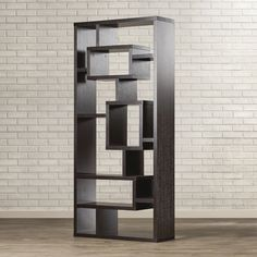 "$193. Found it at AllModern - 71"" Standard Bookcase. Flip and use as storage under TV"