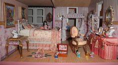 Valentine's Day Dollhouse Bedroom