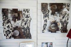 Wall 3d per Home Restyling.Vetrina realizzata con pannelli deocrativi 3d per info e preventivi info@wall-3d.it