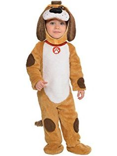 Be the top dog of the play group in this pretty cool playful pup costume. Includes super soft plush jumpsuit with dark brown patches and a white belly. Toddler Puppy Costume, Toddler Boy Halloween Costumes, Cool Halloween Costumes, Baby Costumes, Baby Kostüm, Jumpsuit Outfit, Overall, Bellisima, Toddler Boys