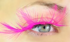Hot Pink Dramatic Eyelashes Feathers. $9.99, via Etsy. You need these Hayli!!