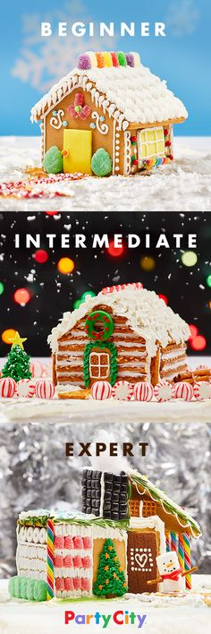Get a Kit. Get Creative. Get as creative as you want. Party City has gingerbread kits and candy accessories that you can use to create the gingerbread house of your dreams. Make memories this Christmas that'll last all year. Oh, it's on.