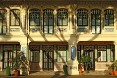 Old Singapore Architecture - Peranakan Houses preserved. Courtesy of photographer, Richard Seah