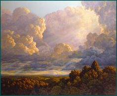 Kai Fine Art is an art website, shows painting and illustration works all over the world. Western Landscape, Landscape Art, Landscape Paintings, Henri Matisse, Watercolor Clouds, American Impressionism, Hudson River School, Cloud Art, Sky Painting