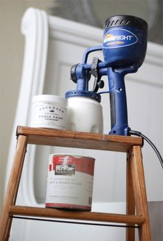 Chalk paint in a sprayer