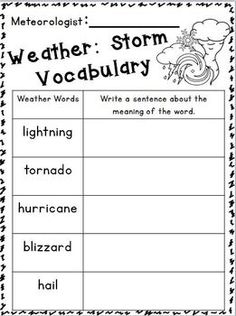 "Weather ""research"" Writing Unit~ For K-2nd Grades :o)"