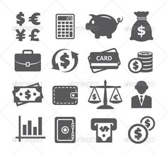 Buy Finance and Money Icons by ihorzigor on GraphicRiver. Finance and Money Icons. Editable EPS and Render in JPG format. Real Estate Icons, Best Icons, Business Icon, Icon Pack, App Icon, Get Over It, Icon Design, Design Art, Icon Set