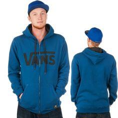 Vans, blue, hoodie