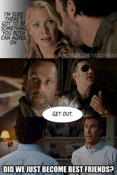 The Walking Dead Memes (Funny)- Agreed. I'm so happy Andrea's gone. Gees she was a dumbass!